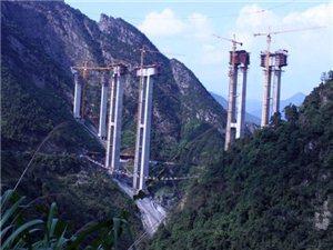 湘南第一高桥——建设中炎汝高速红星特大桥图片