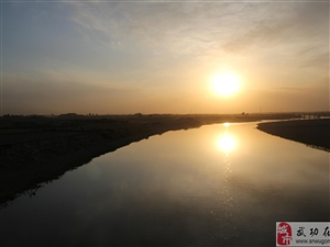 周至武功渭河大桥日落景色