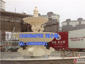 [原创]新品砂岩喷泉,山东丹东安装现场