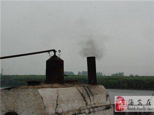 海安首例�`法排放����I主被拘