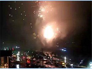 上栗南天宾馆开业 燃放烟花炮竹视频