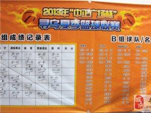 2013寻乌夏季篮球联赛-A、B组成绩记录表