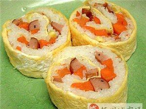 教你做美味蛋卷寿司点心