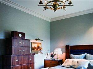 用壁纸墙漆来扩大空间的层次感
