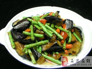 �L茄炒豇豆
