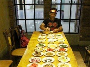 """(图)""""湖南大胃王""""一小时狂吃40盘菜  你们的胃有那么大吗?"""