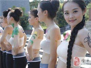 国际旅游小姐人体彩绘(图)