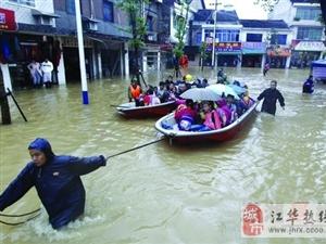 """""""天兔""""带来最强暴雨 常德千名学生被洪水围困"""