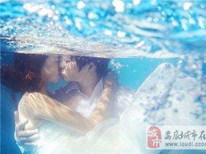 定格最纯净的一抹蓝 传授水下婚纱照的拍摄技巧