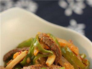 正能量健康快炒菜――――泡菜青椒牛肉丝