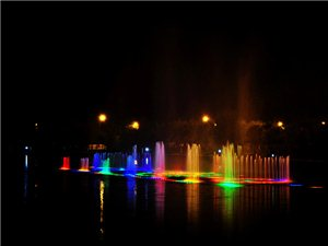 国庆十一公园夜景