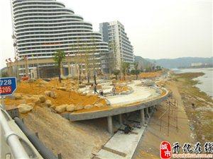 开化国际大酒店已经开始种植外围绿化