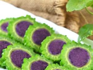 紫薯苦瓜圈的做法.苦瓜吃出不一�拥母杏X