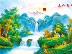 山水壁画背景墙