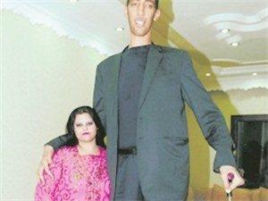 2.51米世界第一高人完婚
