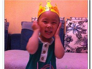 我家的小老虎儿三岁生日啦