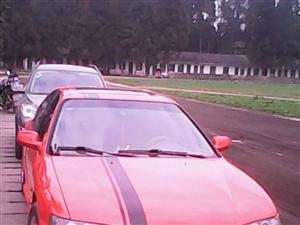 本人出售一辆,红色本田CD5改装跑车!2.4,前驱,车身纯进口!