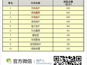 2013年上半年房企销售金额TOP10薪酬情况分享