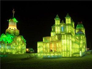 刚从哈尔滨回来,拍了点冰灯的照片