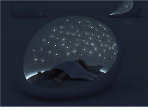 睡在星空下