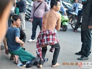 儋州26日下午出现古惑仔,两帮人相互刀砍!幸好公安来的快!