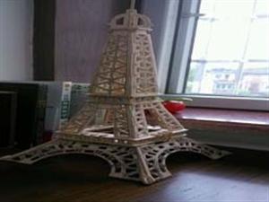 牙签制作埃菲尔铁塔,欢迎交流欣赏。
