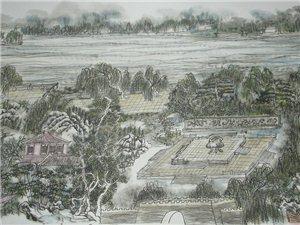 黄东雷 明湖景区图