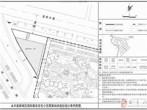 永丰县新城区国际都会住宅小区西面地块规划设计条件