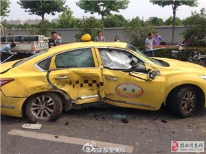 宝马闯红灯致惨烈车祸两死多伤车辆瞬间解体
