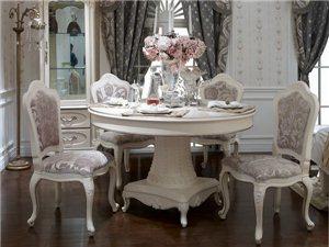 全友罗曼尼庄园餐桌