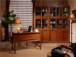 全友普吉风情书桌书柜