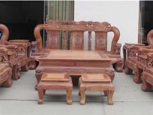 【宝鼎红木】缅甸花梨木原色生磨加厚弯板战国16公分沙发十件套