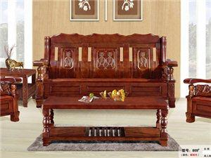 实木沙发雕刻中式沙发