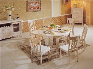 玫瑰宜家�A桌3003#+餐椅2008#
