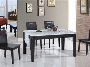S206#餐桌+S206#餐椅(黑色)
