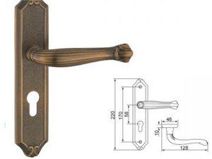 全铜面板锁