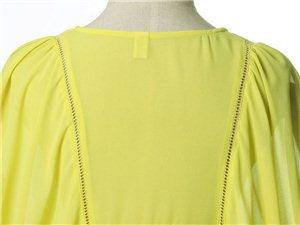 包邮2014韩版时尚新款蝙蝠袖裙摆收腰雪纺衫糖果色女装