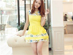 2014春新款春装韩版修身女装清新气质拼接无袖蕾丝背心裙