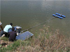 云南曲靖第一台太阳能增氧机落户陆良县华侨农场