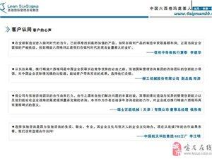 上海深圳六西格玛咨询公司精益六西格玛管理培训