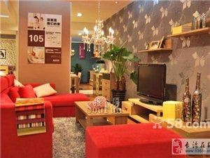 超漂亮的迈赫布艺沙发-西瓜红色-小户型必备