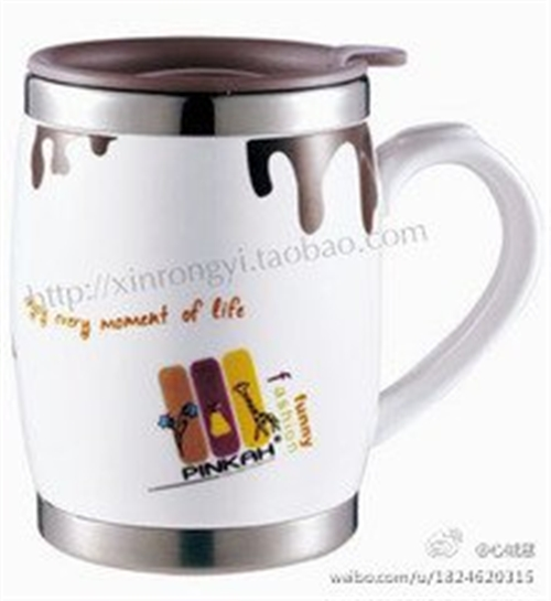 特价正品陶瓷不锈钢保温杯情侣杯办公杯45元