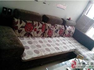 一组咖啡色组合沙发总长2.6米宽1.5米
