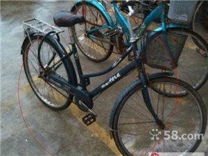 (转让)转一辆二手自行车(单车),120元,后轮胎全新
