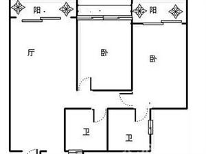 河东,遂宁市东城一品,绝版户型2室2厅2卫