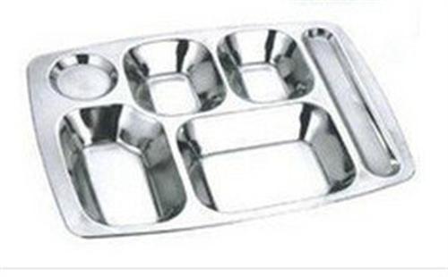 不锈钢6格快餐盘
