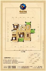 E-1户型:三房两厅两卫
