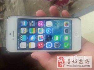 国行白色苹果5手机