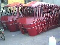 批发三轮车车棚拱棚用竹批4-4.4米
