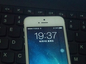 白色 �O果 iPhone5 16GB 港版保修期��